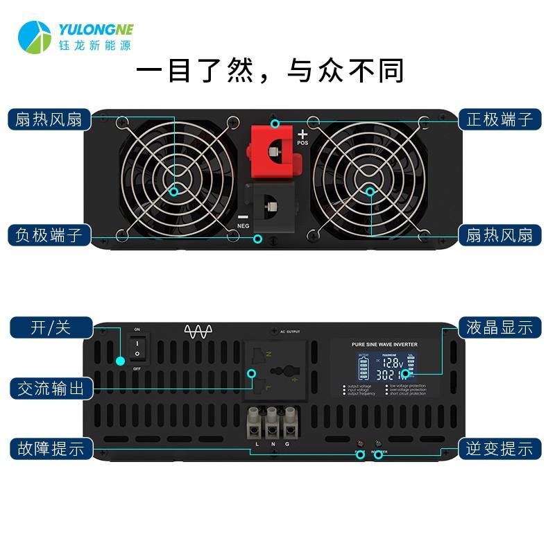 YLRX3000纯正弦波逆变器【LCD液晶显示】2019流行款